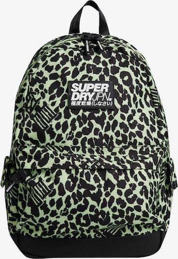 Superdry Rucksack 'Montana' in dunkelgrau / pastellgrün / schwarz / weiß, Produktansicht