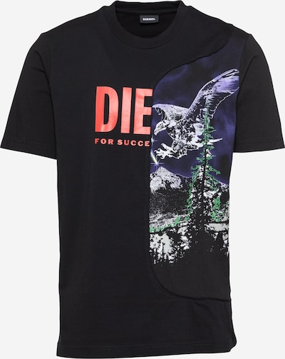 DIESEL T-Shirt en mélange de couleurs / noir, Vue avec produit