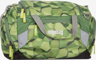 ergobag Sporttasche in grau / grün / limette / hellgrün / weiß, Produktansicht
