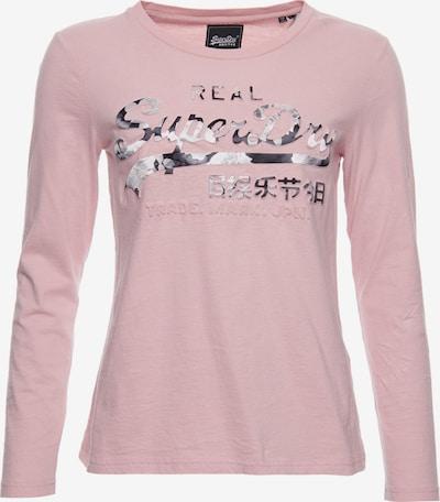 Superdry Shirt in rosé / schwarz / weiß, Produktansicht