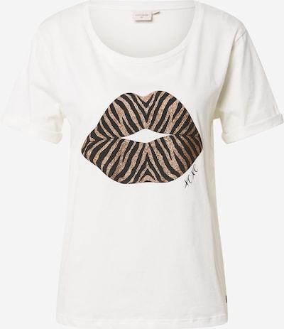Cream T-shirt 'Dytta' i guld / svart / vit, Produktvy