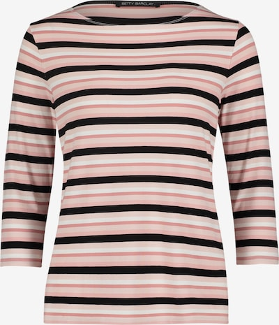 Betty Barclay Ringelshirt mit U-Boot-Ausschnitt in rosa / schwarz, Produktansicht