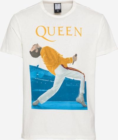 AMPLIFIED T-Shirt 'QUEEN TRIANGLE' en bleu ciel / jaune / blanc, Vue avec produit