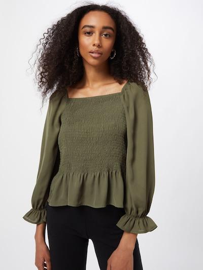 JDY Bluse 'Mina' in dunkelgrün, Modelansicht