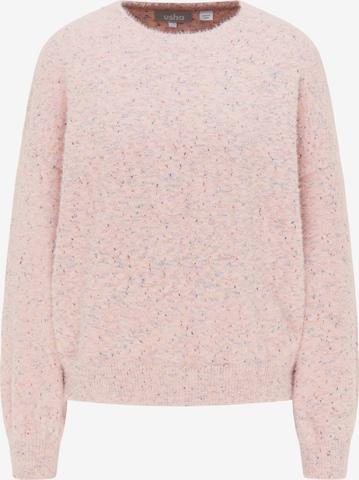 Usha Oversized Sweater in Pink