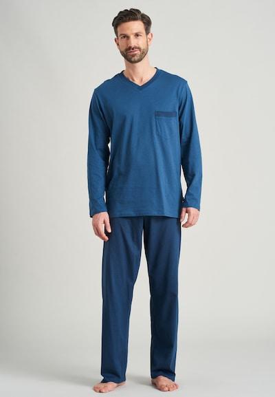 SCHIESSER Pyjama lang in de kleur Blauw, Modelweergave