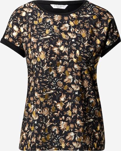 ZABAIONE Shirt 'Alicia' in de kleur Bruin / Goud / Zwart / Wit, Productweergave
