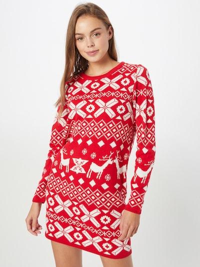 Rochie tricotat 'MIKA' JDY pe roșu / alb, Vizualizare model