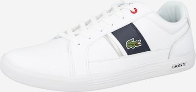 LACOSTE Baskets basses en bleu marine / vert gazon / rouge / blanc, Vue avec produit