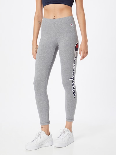 Champion Authentic Athletic Apparel Leggings in navy / graumeliert / rot / weiß, Modelansicht
