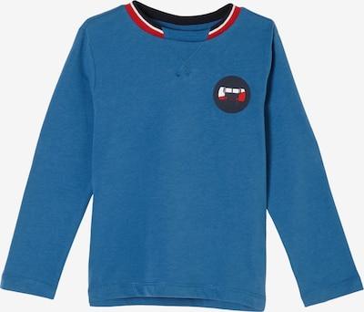s.Oliver Jerseyshirt mit Kontrast-Details in blau, Produktansicht