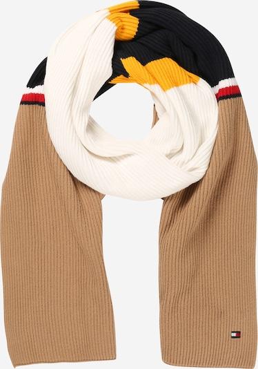 TOMMY HILFIGER Schal in camel / goldgelb / rot / schwarz / weiß, Produktansicht