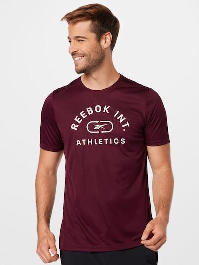 Reebok Sport Functioneel shirt in de kleur Bordeaux / Wit: Vooraanzicht
