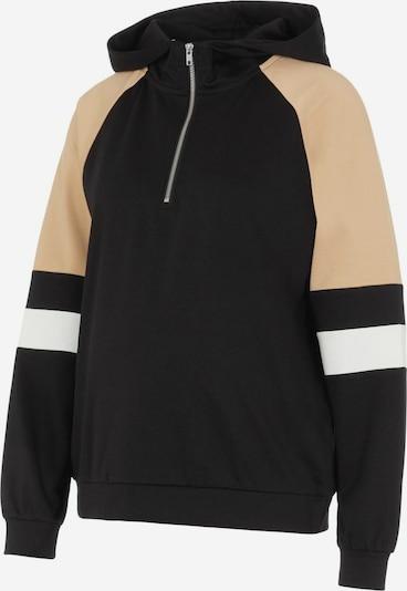MAMALICIOUS Sweatshirt ' PCMMAGGYA' in beige / schwarz / weiß, Produktansicht