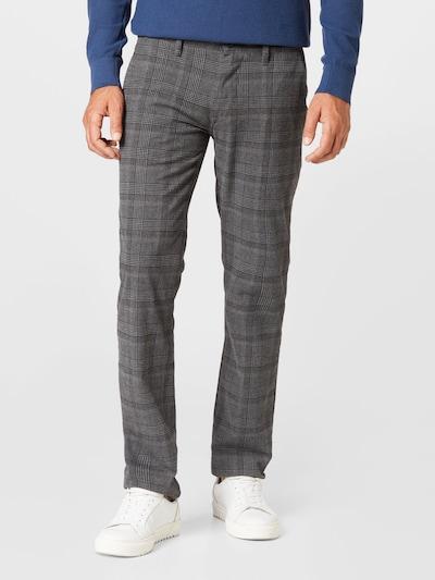 BOSS Casual Chino nohavice - sivá melírovaná / čierna, Model/-ka