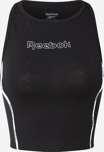 Reebok Sport Sporttop in schwarz / weiß, Produktansicht