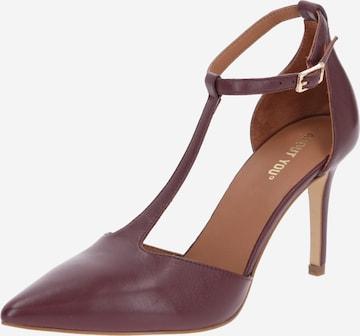 ABOUT YOU - Zapatos con plataforma 'Mathilda' en rojo