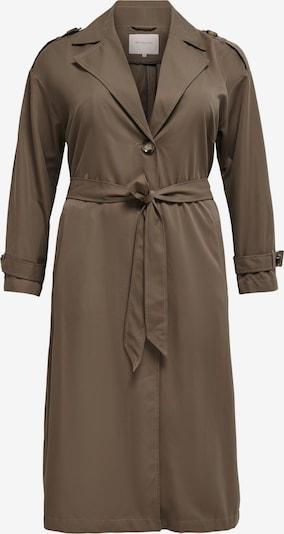 ONLY Carmakoma Přechodný kabát - hnědá: Pohled zepředu
