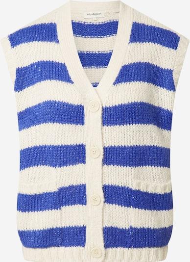 Lollys Laundry Strickwesten 'Celine' in blau / weiß, Produktansicht