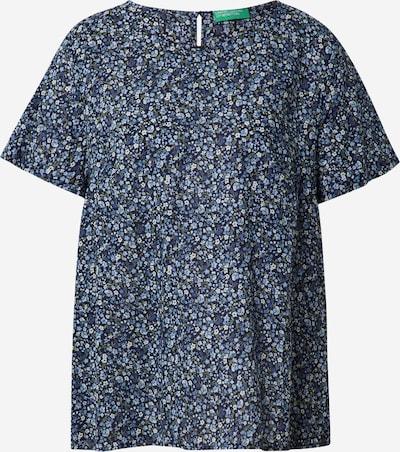 UNITED COLORS OF BENETTON Bluse in navy / hellblau / dunkelblau / grün / weiß, Produktansicht