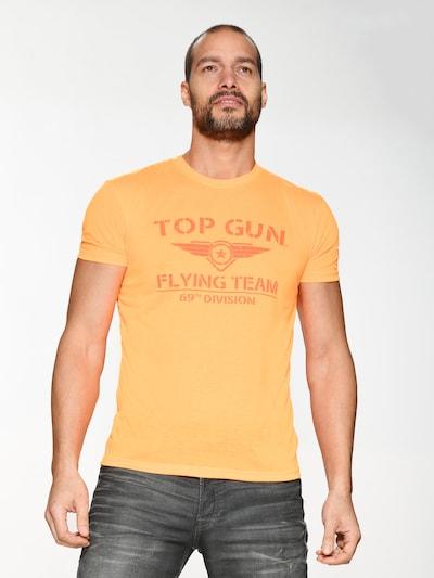 TOP GUN T-Shirt ' Shining ' in orange: Frontalansicht
