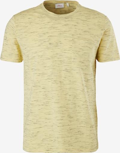 s.Oliver Shirt in de kleur Lichtgeel / Antraciet, Productweergave