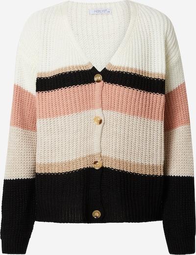 Hailys Gebreid vest 'Misa' in de kleur Bruin / Rosa / Zwart / Wit, Productweergave