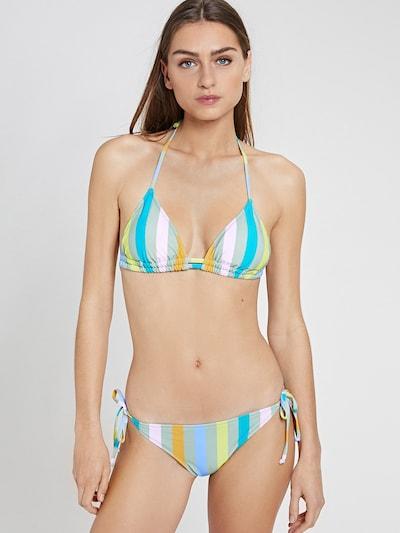 Shiwi Bikini u sivkasto plava / žuta / svijetlozelena / narančasta / roza, Prikaz modela