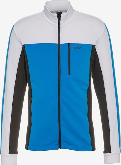 Colmar Sportsweatjacke in himmelblau / schwarz / weiß, Produktansicht