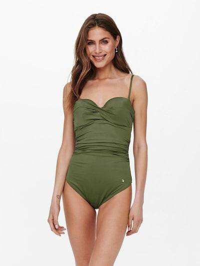 ONLY Maillot de bain en vert foncé, Vue avec modèle
