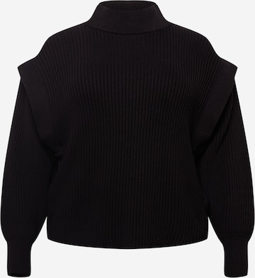 juoda Selected Femme Curve Megztinis