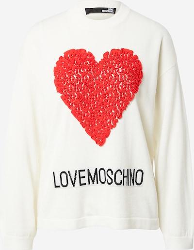 Pulover Love Moschino pe roșu / negru / alb, Vizualizare produs