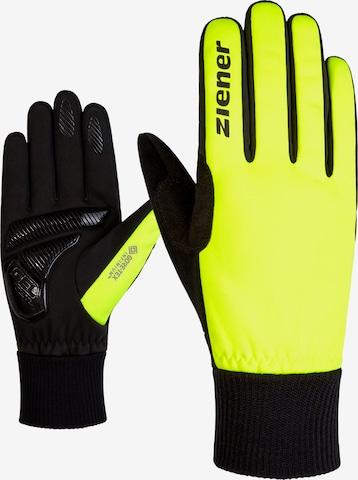 ZIENER Athletic Gloves 'SMU 18-GWS' in Yellow