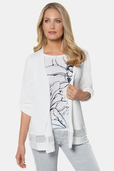 Gina Laura Jerseyjacke in weiß, Modelansicht