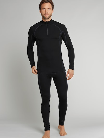 SCHIESSER Lange Unterhose 'Thermo Light' in schwarz, Modelansicht
