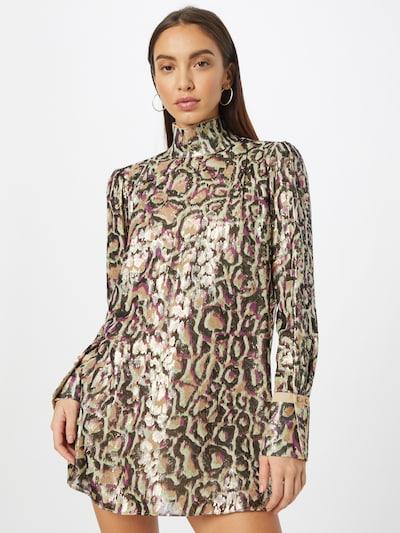 PATRIZIA PEPE Šaty - krémová / světle béžová / tmavě hnědá / pastelově zelená / stříbrná, Model/ka