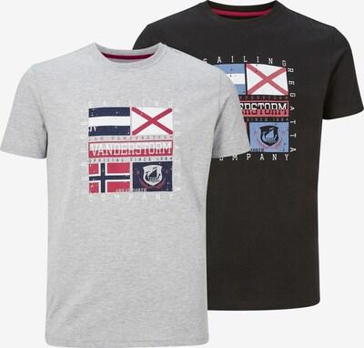 Jan Vanderstorm T-Shirt 'Preben' in grau / mischfarben / schwarz, Produktansicht