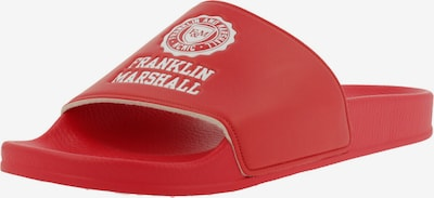 FRANKLIN & MARSHALL Pantolette in rot: Frontalansicht
