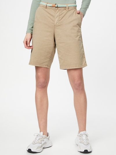 ESPRIT Shorts in hellbeige, Modelansicht