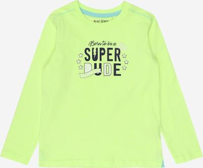Maglietta BLUE SEVEN di colore verde chiaro / nero / bianco, Visualizzazione prodotti