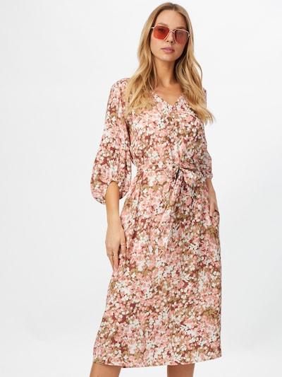 Esprit Collection Kleid in braun / oliv / altrosa / bordeaux / weiß, Modelansicht
