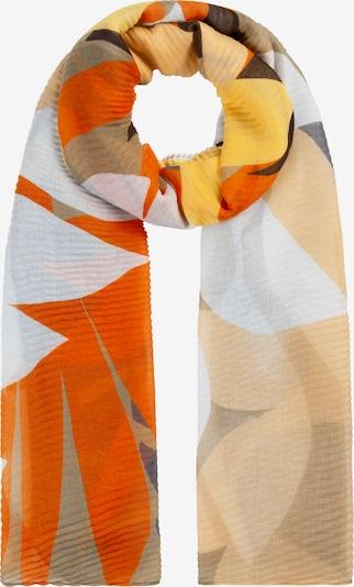 Fular CODELLO pe maro deschis / galben / gri / portocaliu, Vizualizare produs