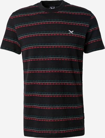 Iriedaily Μπλουζάκι 'Monte Noe Jaque' σε σμαραγδί / κόκκινο / μαύρο / λευκό, Άποψη προϊόντος