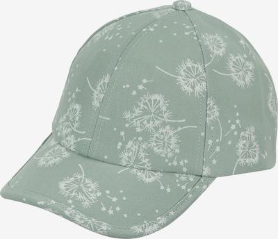 STERNTALER Cap in pastellgrün / weiß: Frontalansicht