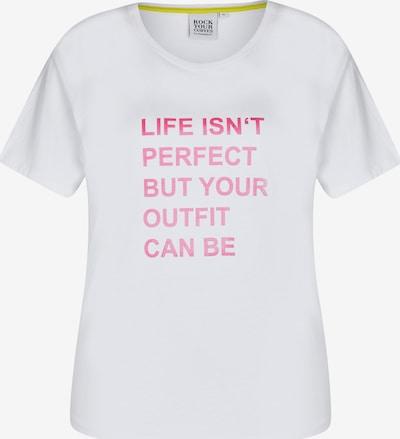 Maglietta Rock Your Curves by Angelina K. di colore rosa / bianco, Visualizzazione prodotti