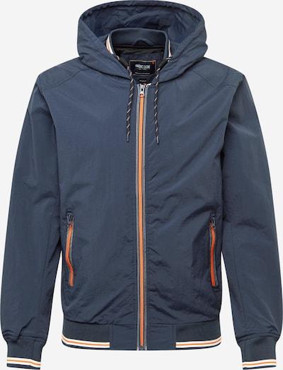 INDICODE JEANS Jacke 'Phan' in nachtblau / orange / weiß, Produktansicht