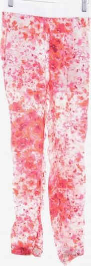 Twinset Stoffhose in XXS in creme / rosa / rot: Frontalansicht