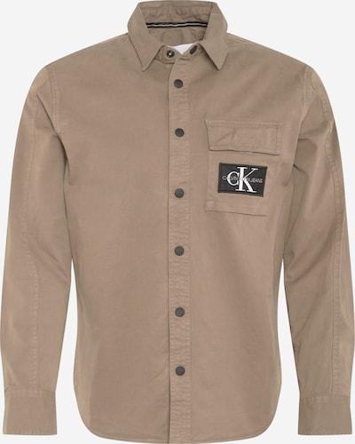 Camicia Calvin Klein Jeans di colore marrone chiaro, Visualizzazione prodotti
