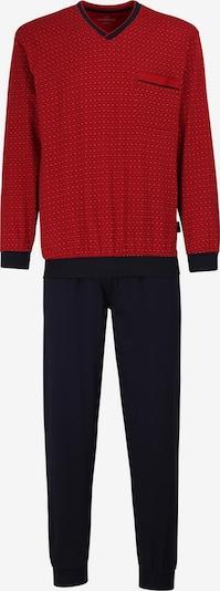 Götzburg Pyjama in dunkelblau / dunkelrot, Produktansicht