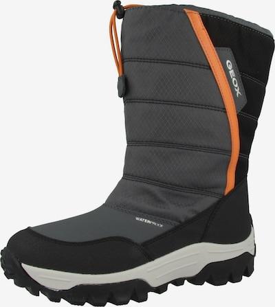 GEOX Snowboot 'J Himalaya B.B WPF A' in grau / orange / schwarz / weiß, Produktansicht